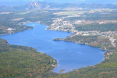 Vue aérienne du Lac Etchemin